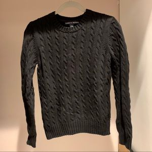 Tommy Hilfiger Black Cable Knit Sweater